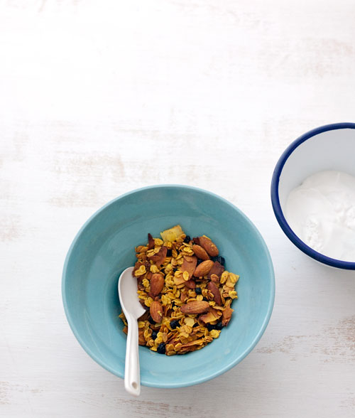 Turmeric and Wild Blueberry Granola